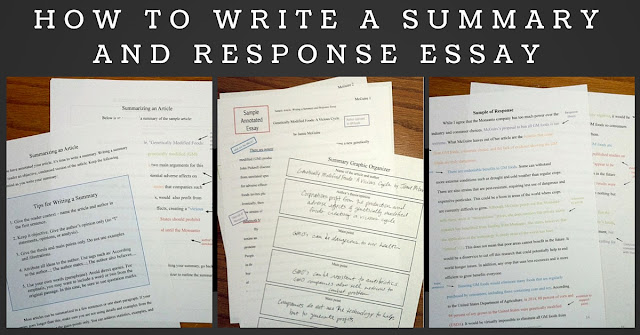 https://www.teacherspayteachers.com/Product/Summary-and-Response-Essays-Complete-Unit-1729917