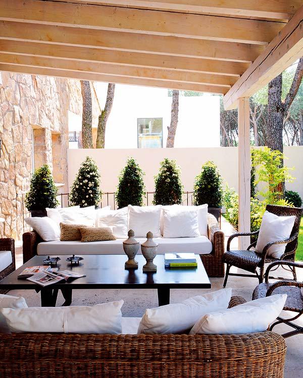Estilo rustico galerias abiertas y frescas - Como decorar un porche abierto ...