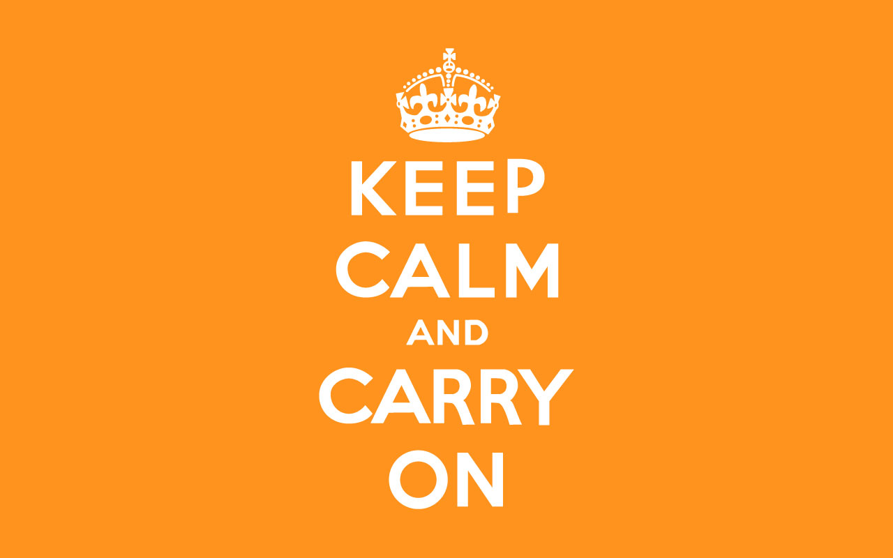 Keep Calm And Carry On - Sonia Shonta Rogers