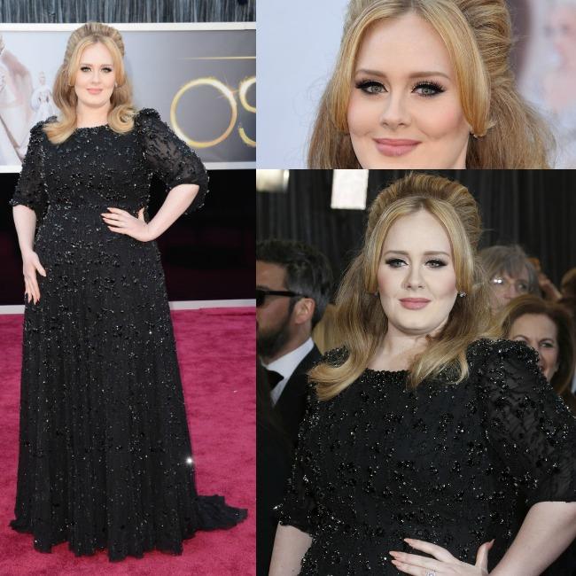 il look di Adele agli Oscar 2013