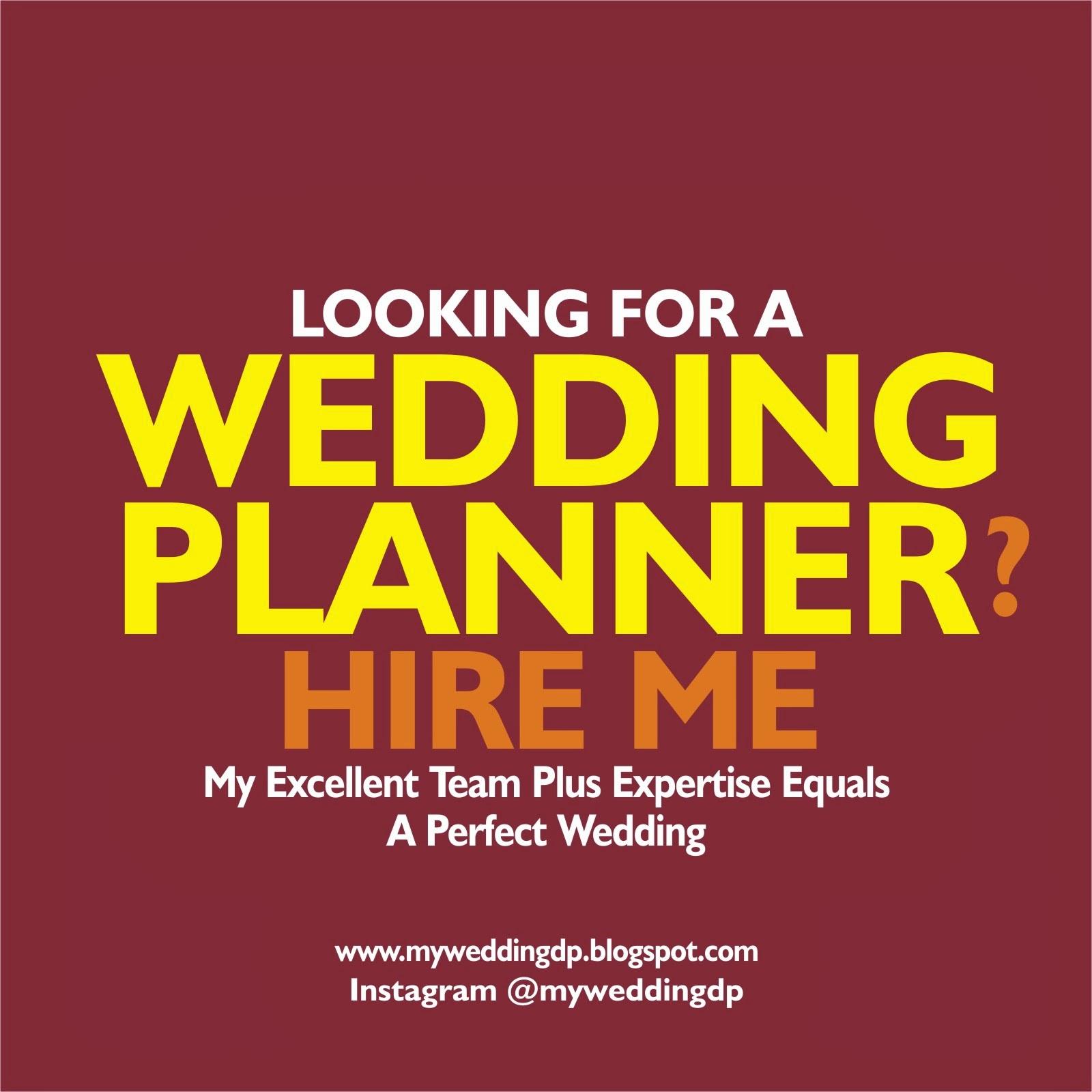 MAKE ME YOUR WEDDING PLANNER