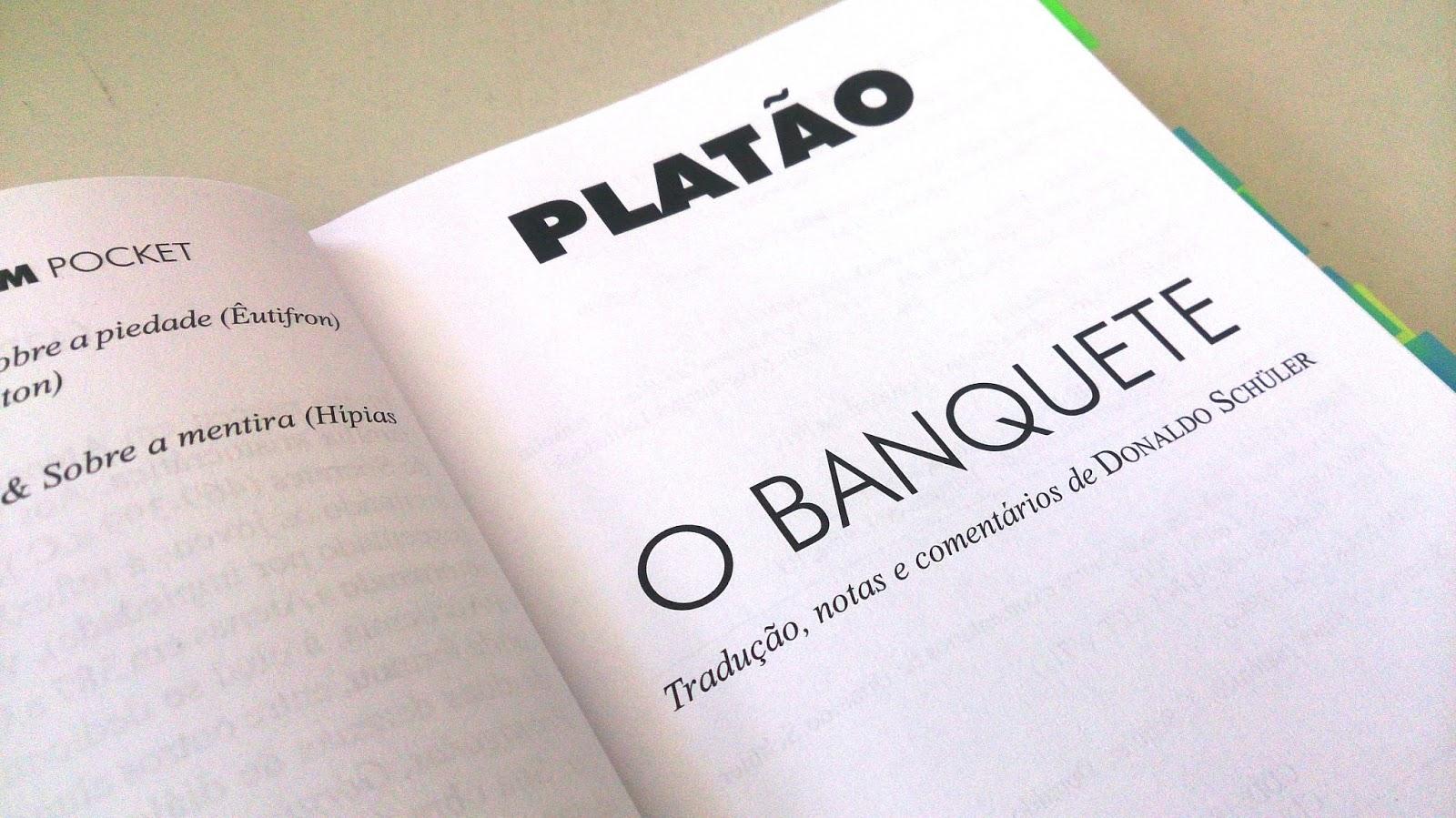 Resenha O Banquete Frases Soltas