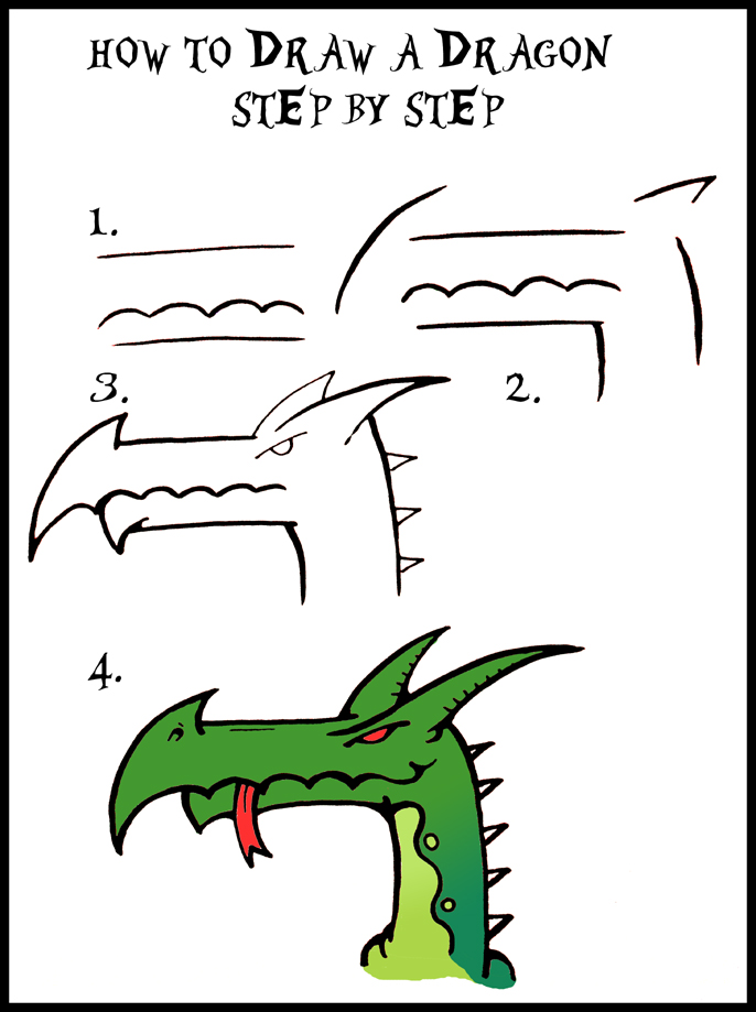 DARYL HOBSON ARTWORK: How To Draw A Dragon Guide: Step By Step