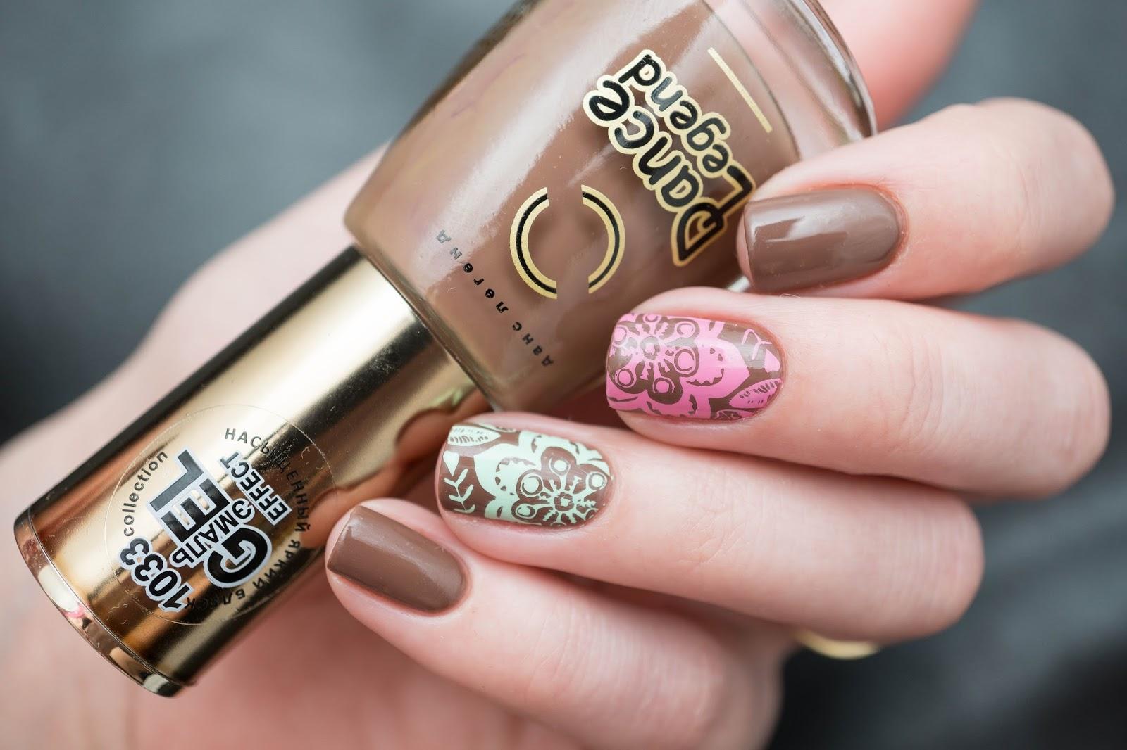 Цвет мокко фото на ногтях