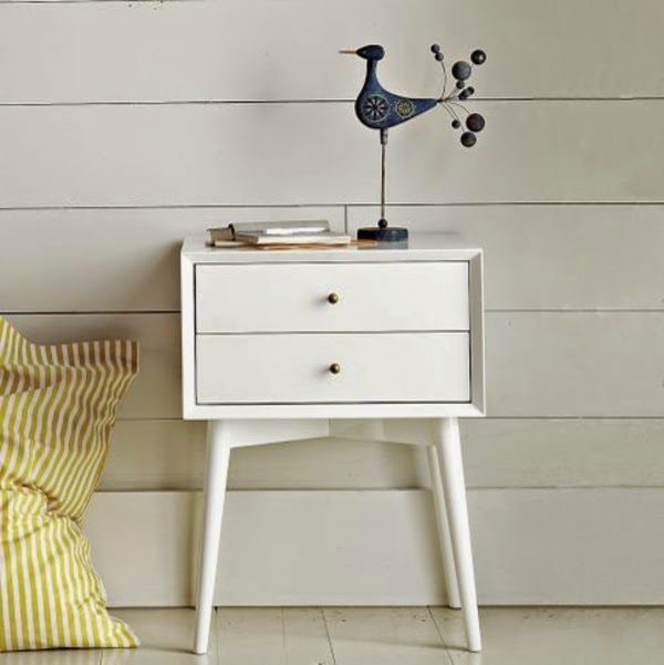 Modern white bedside table 10 designs and ideas for Table leg design ideas
