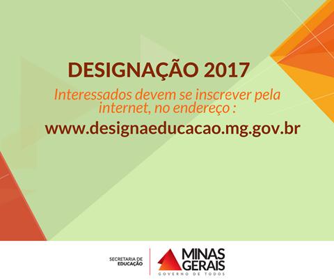 Site de inscrição para designações 2017