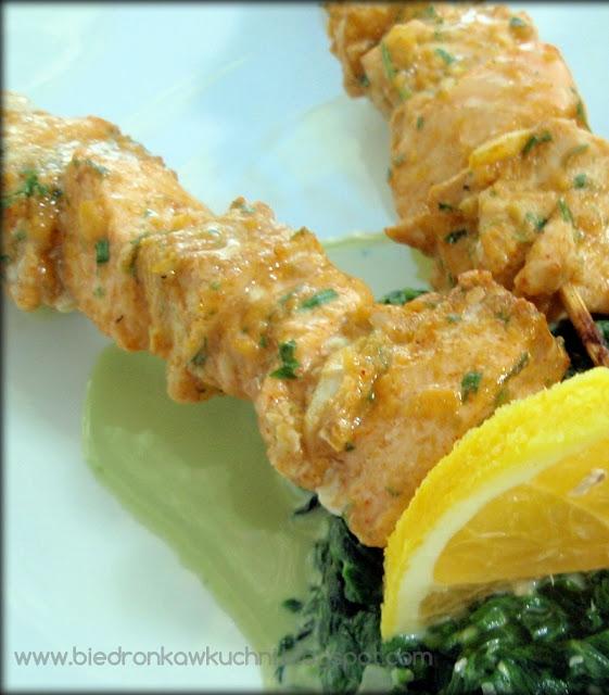 rybne szaszłyki, grill, ryba, łosoś