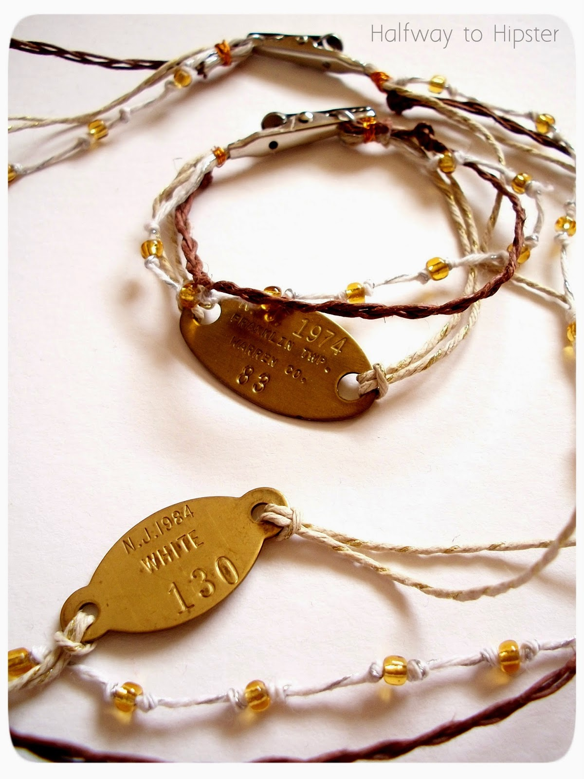Upcycled Dog Tag Jewelry