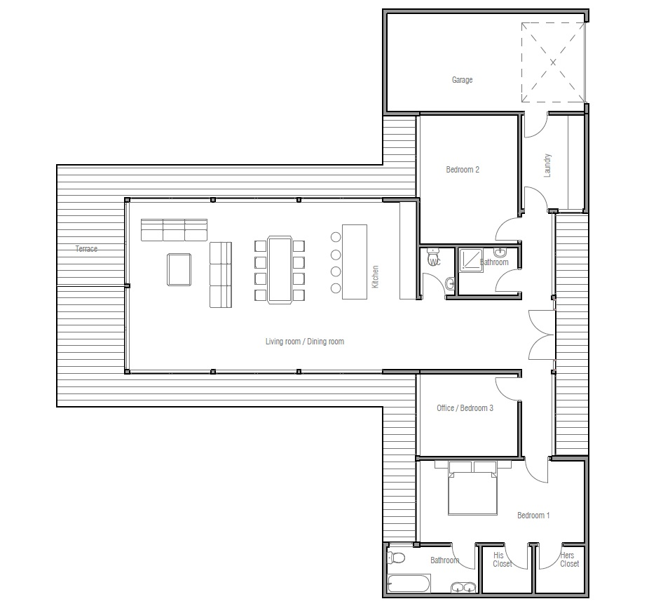 Affordable Home Plans Economical House Plan Ch164