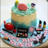Makeup Kit Cake Images : Sherbakes: Non Fondant Cakes
