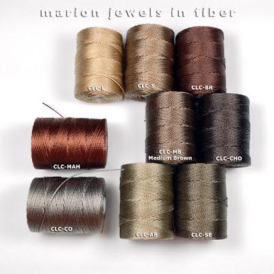 Compare C-Lon Bead Cord Medium Brown