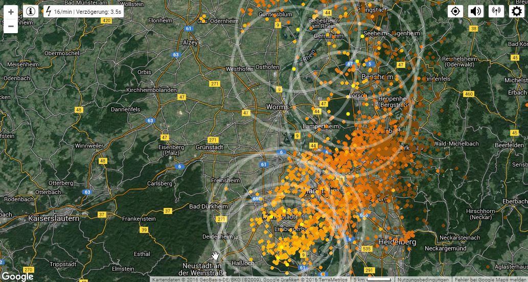 Live Map Lightning