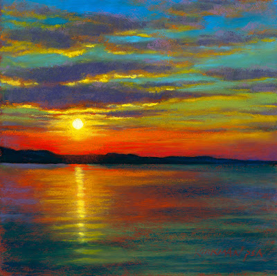 Rita Kirkman's Daily Paintings: Sunset #51  Sunset