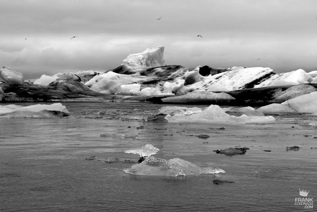 icebergs en Jokulsarlon islandia