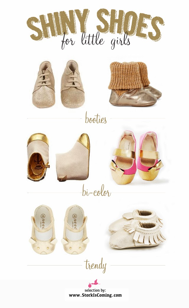 golden shoes for little girls