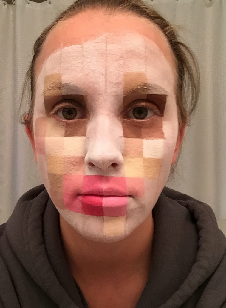 Erica S Diy Work Pixelated Face Paint