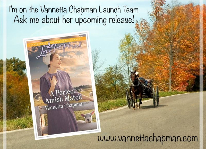 Vannetta Chapman's Book Launch Team