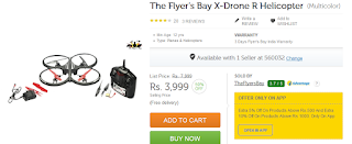 Flipkart : Buy The Flyer's Bay X-Drone R Helicopter for Rs.3999