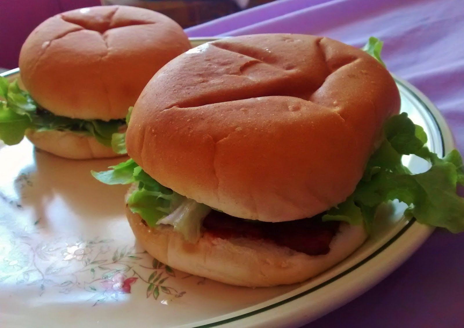 Homemade bacon baps
