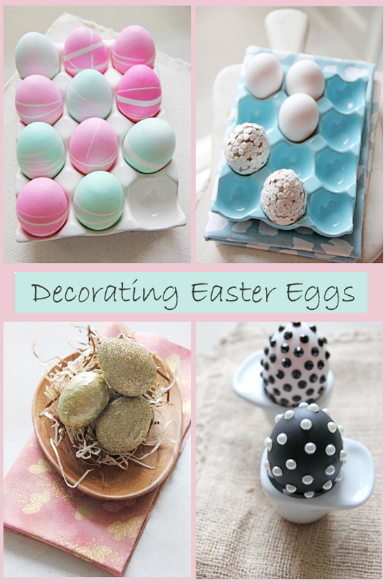 Chocolate shavings diy easter egg decor for Diy easter decorations for the home