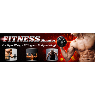 Fitness Website Header Preview