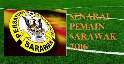 skuad Pemain Sarawak 2016