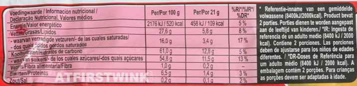 Kit Kat Chunky Double Caramel voedingswaarde