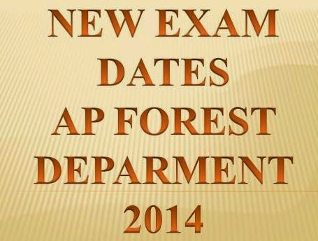 New Exam Dates AP Forest Deparment 2014 Recruitment @ www.apfdrt.org