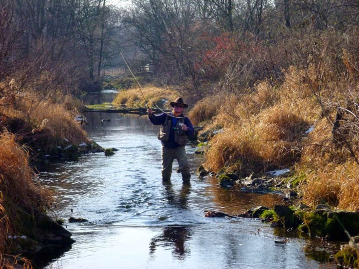 Strip n twitch 2014 spring branch creek fishing survey for Fly fishing iowa