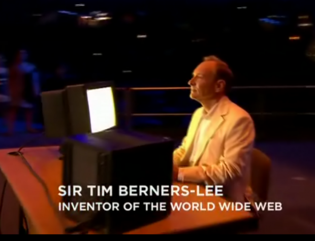 Tim Berners Lee with his world's first web server(NEXT)