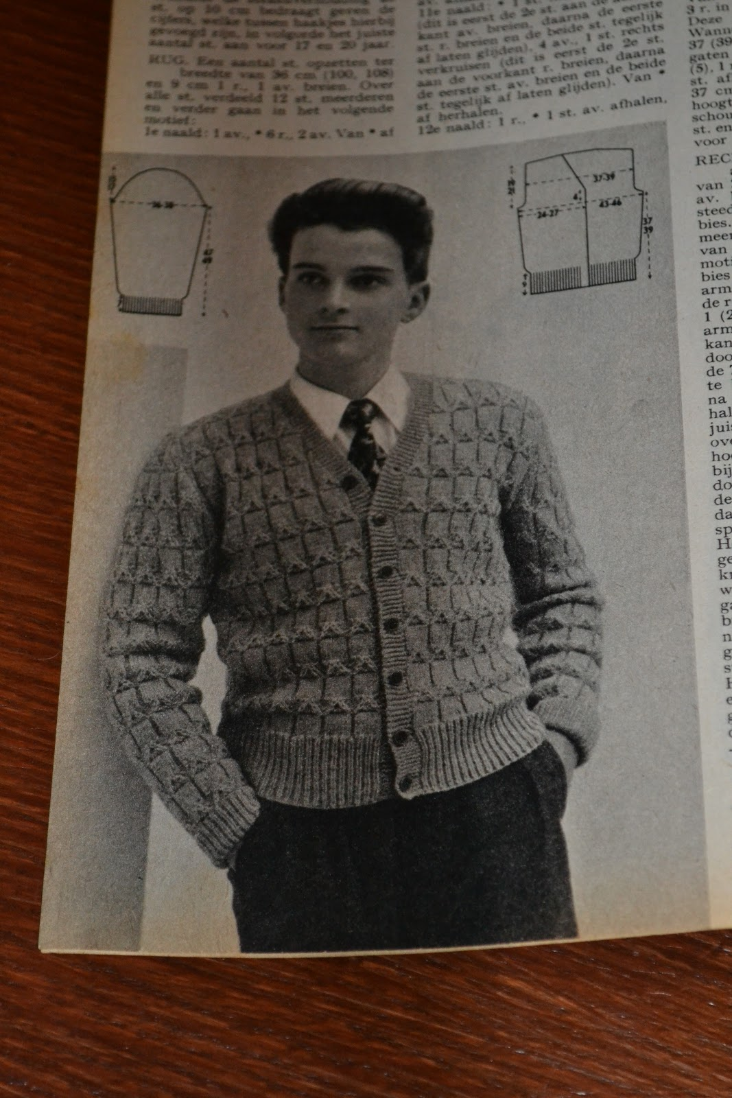 Complicated Knitting Patterns : Sewing   Vintage   Knitting: Inspiration: Knitting something for him