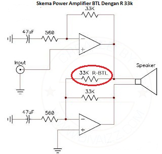 Skema Power Amp BTL IC - www.divaizz.com
