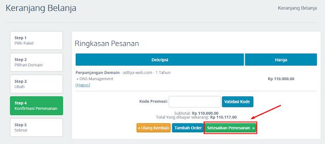 Cara Perpanjang Sewa Domain di Idwebhost
