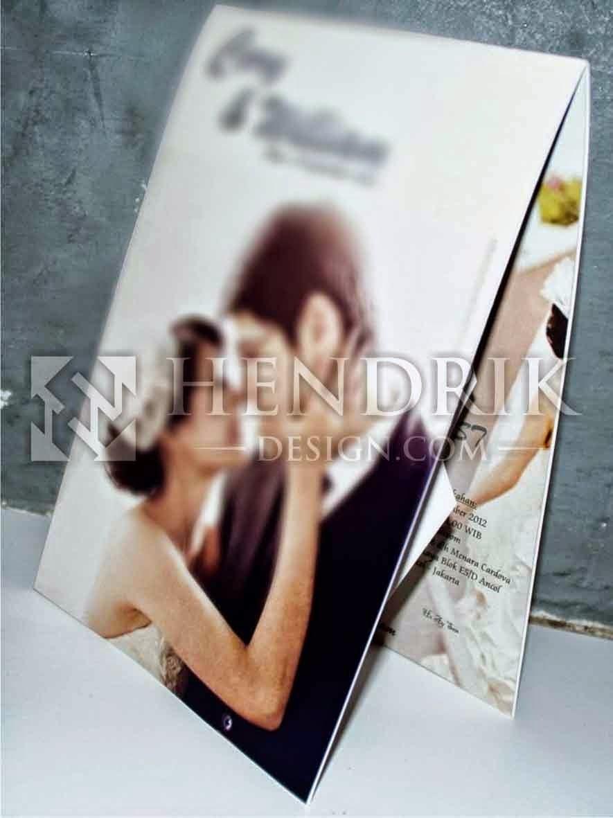 Contoh Desain Undangan Pernikahan Popup (HCGD-20)