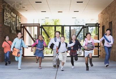 children running in school - photo #7