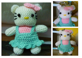 Amigurumi crochet Hello Kitty Keychain Cute