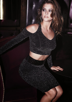 Nina Agdal show of her sexy and hot body for Bebe Black Friday photoshoot