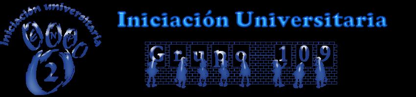 Iniciación Universitaria  Gpo.0109