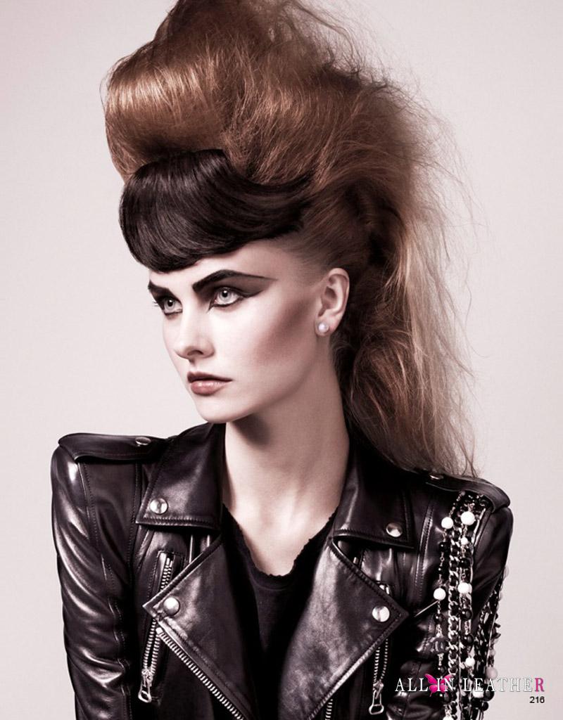 Leather jacket photoshoot - Kamila F Leather Jacket Photoshoot Daniel Jackson Magazine Editorial Vogue