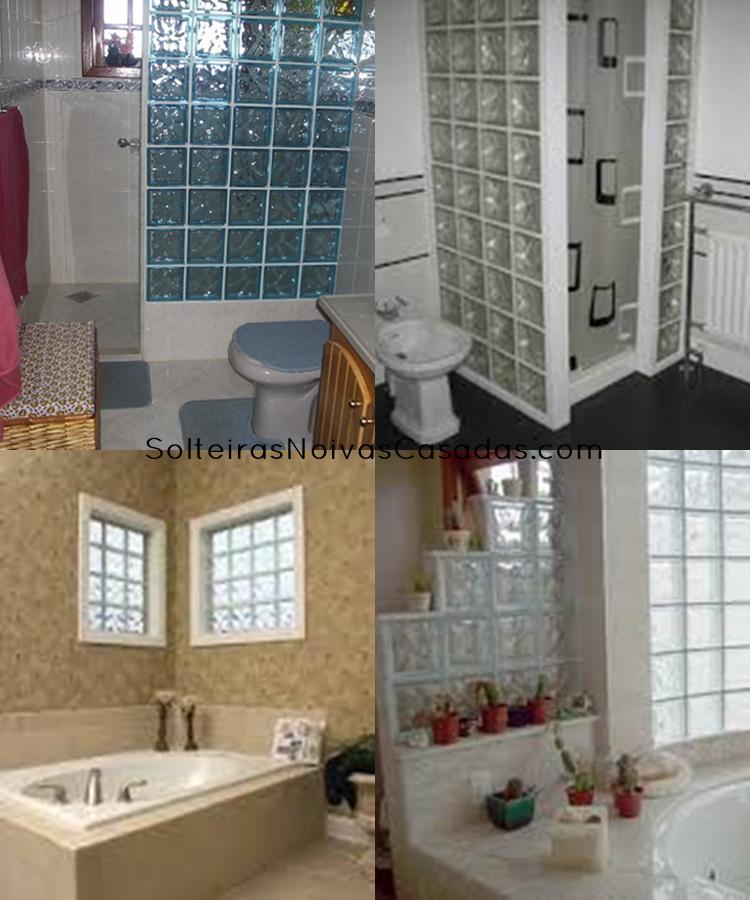Decorando com Tijolos de Vidro  Solteiras Noivas Casadas -> Pia De Banheiro Feita Com Tijolo De Vidro