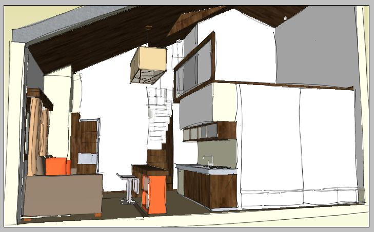 Dise o interiores exteriores proyecto de caba as for Diseno de interiores de cabanas