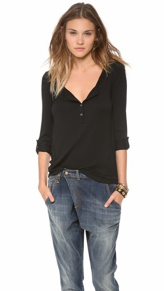 Super Soft Knit Henley by: Splendid @Shopbop