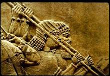 Ninive, Mossoul. Scènes assyriennes de chasse, détail, VIIe siècle av. J.-C.