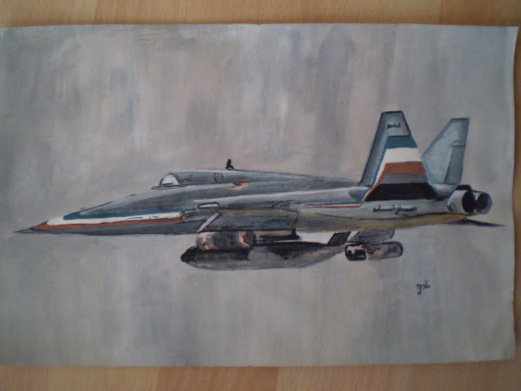 Thunder warplane, copy , watercolor, Joli, 11,2/7,2in