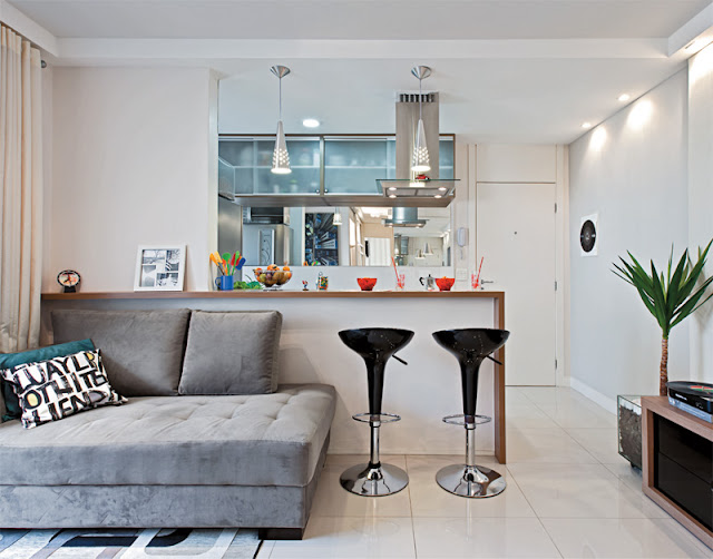 apartamento decorado, blog de decoração, apartamento masculino, decoração com espelhos