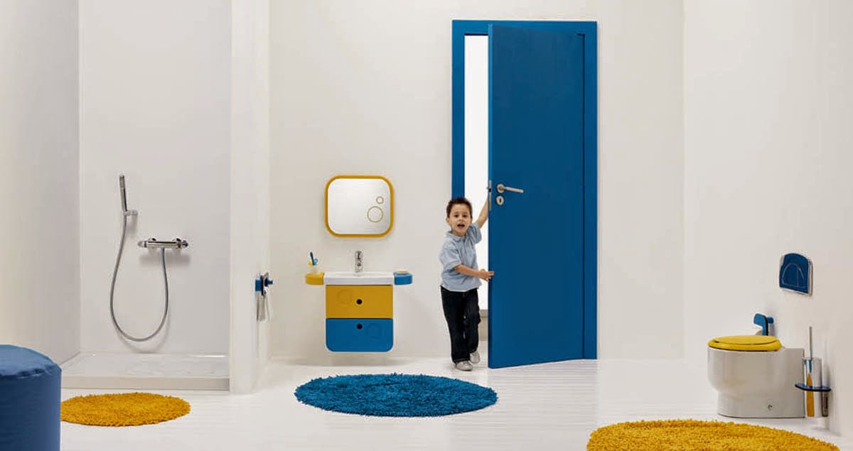 Kids bathrom fun color