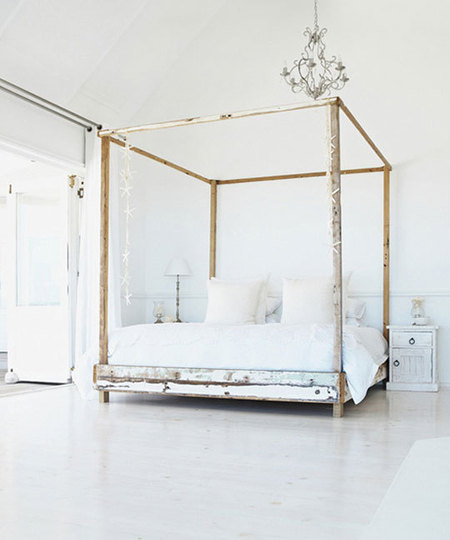 Piorra maison all things to inspire and desire chalk for Gold canopy bed frame