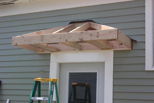 bricks honey building the back door overhang