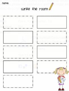 Adventures in Kindergarten: Write the Room Free Download