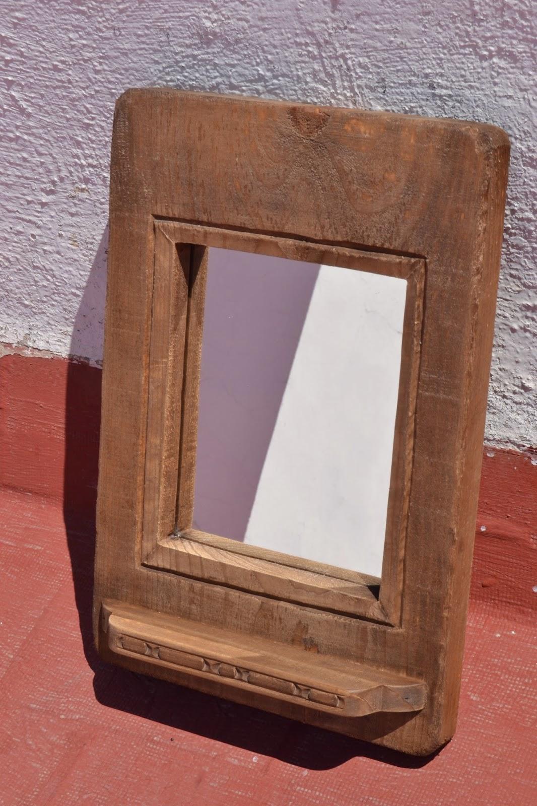 Artesan a r stica en madera marco de madera rustico - Marcos rusticos para espejos ...